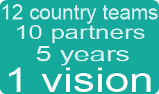 image representing the phrase: 10 partners, 5 years, 1 vision